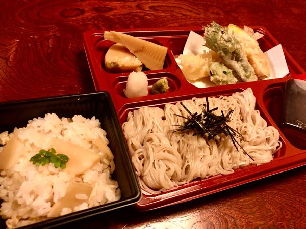 天ぷらそばセット(五箇山そばそうめん) 980円